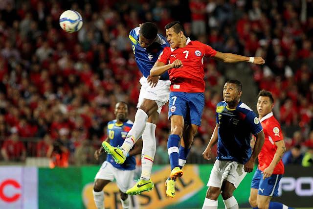 Chile y Ecuador en Clasificatorias a Brasil 2014, 15 de octubre de 2013