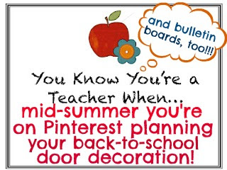 photo of: Classroom Door Decorations on Pinterest? That's how you know you're a teacher! Bulletin Board Ideas, too!