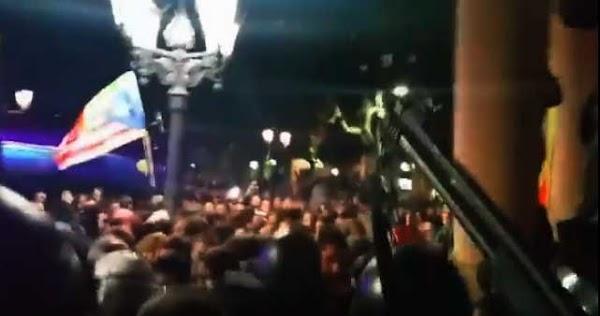 Vídeo disparos al aíre de los Mossos en Lérida