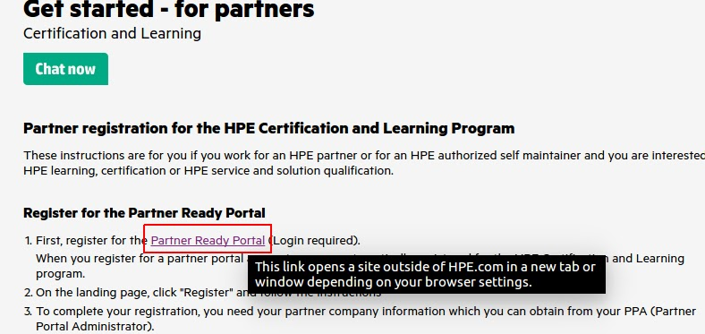 Partner ready portal for HP certification