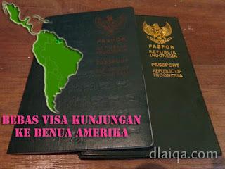 Status Bebas Visa Paspor Indonesia Di Benua Amerika