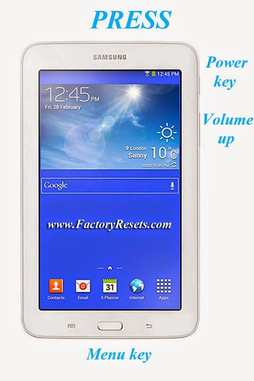 Hard Reset Samsung Galaxy Tab 3 Lite 7.0 VE