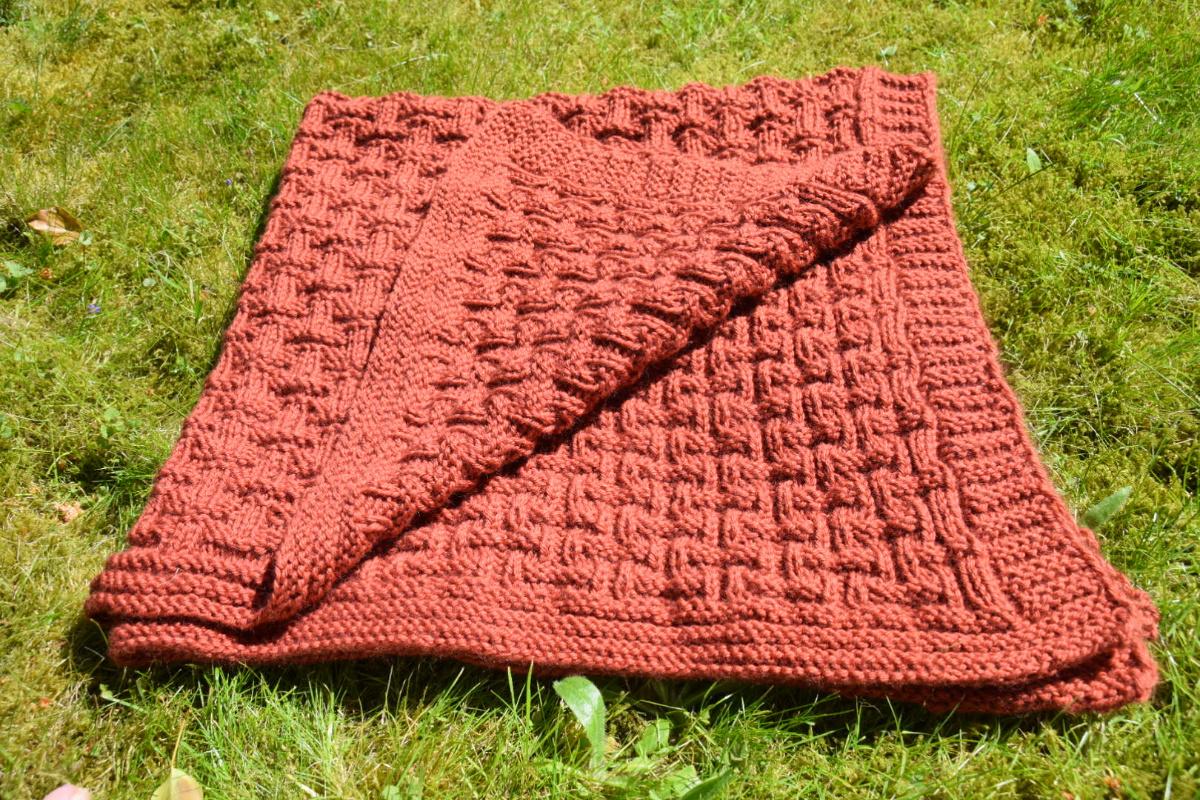 Babydecke stricken aus Merinowolle für Anfänger