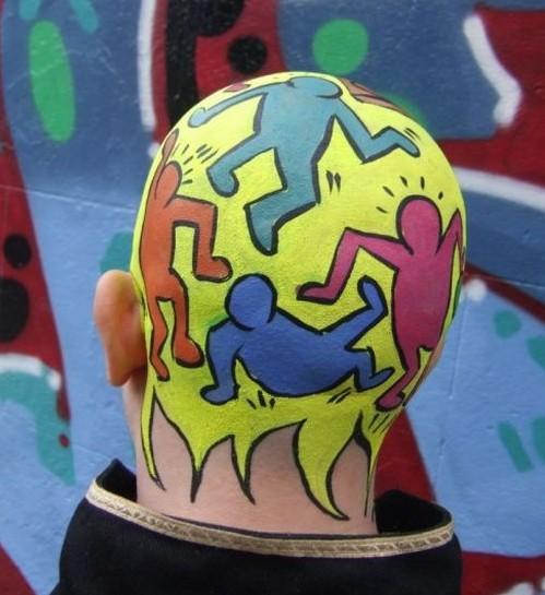cabeza pintada