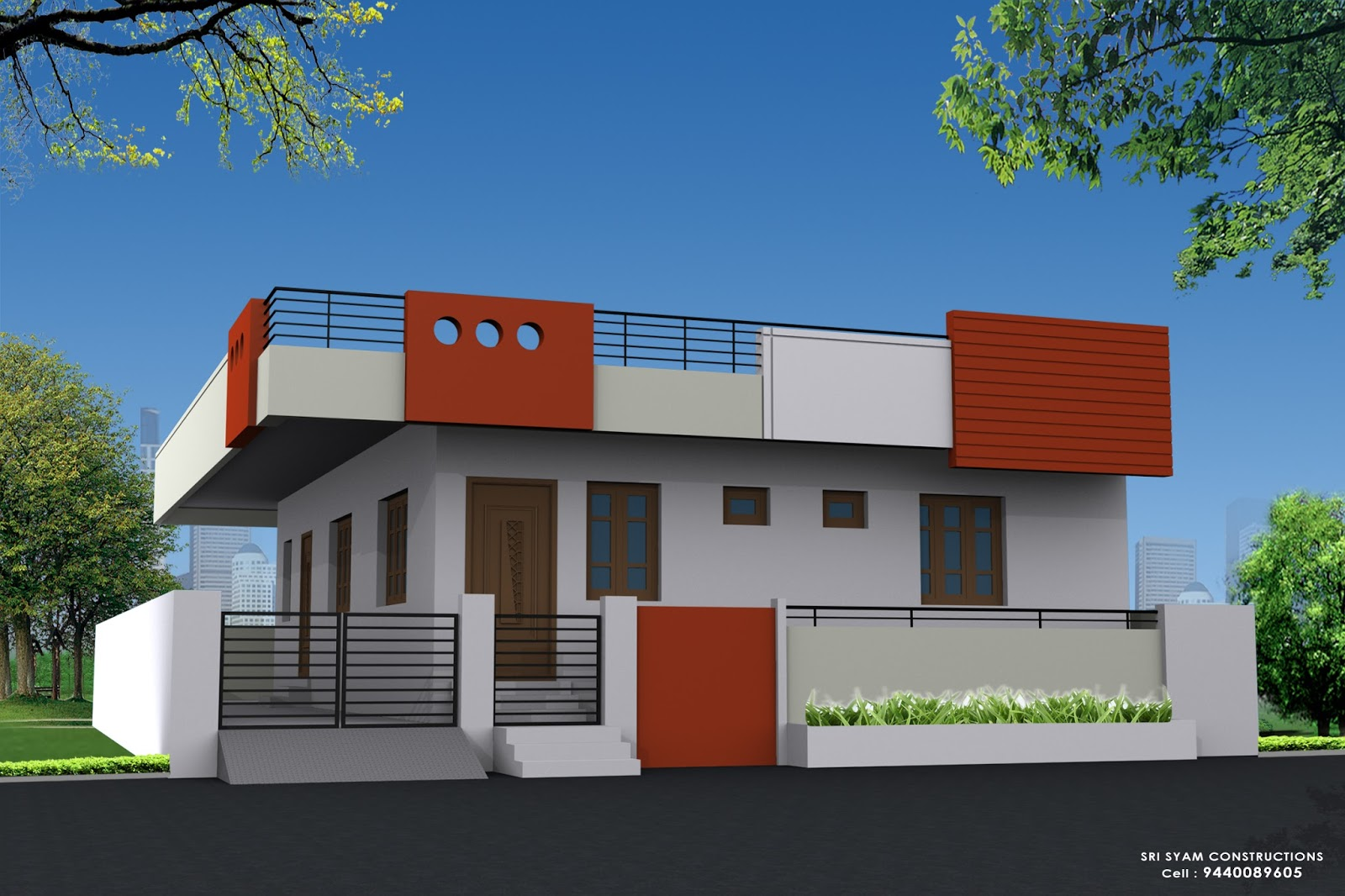 N Single Home Elevation : Single floor building elevation work thefloors
