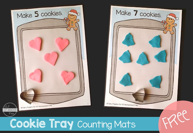 FREE Cookie Tray Counting Mats to 12