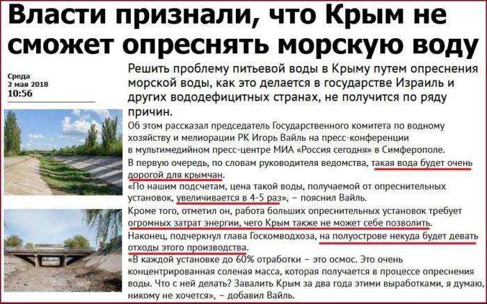 Вода для Крыма