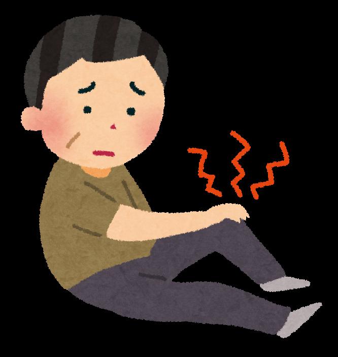 「膝の痛み  イラスト」の画像検索結果