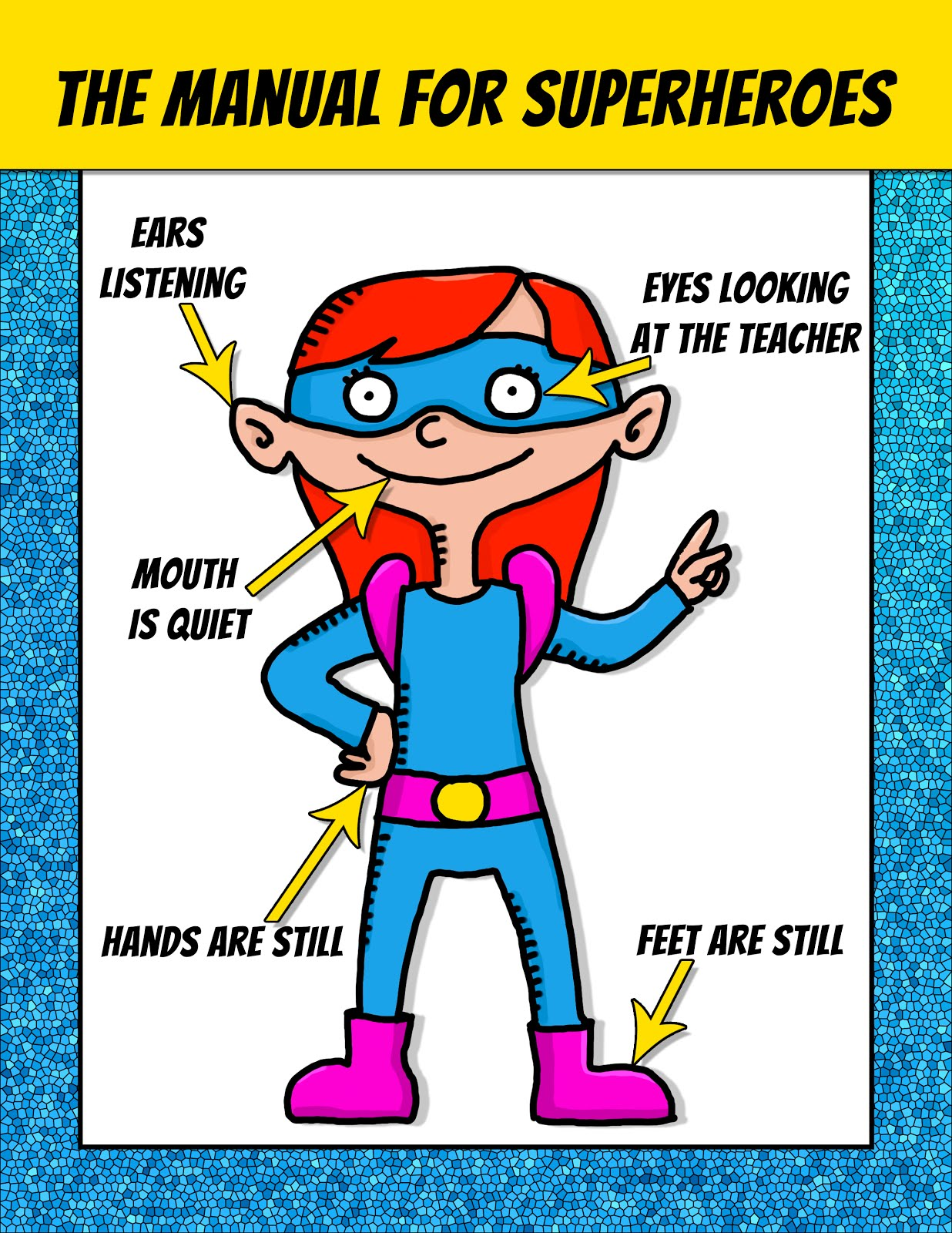 Spanish Teacher From Spain Superhero Classroom Posters Free
