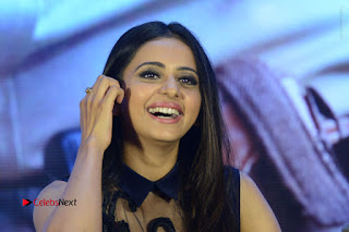 Actress Rakul Preet Singh Stills in Beautiful Blue Long Dress at Dhruva Salute to Audience Event  0133.JPG