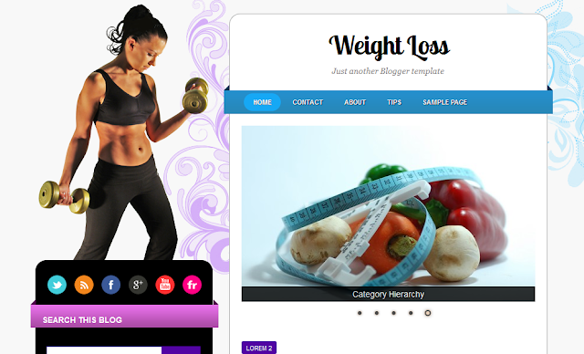Health Theme Blogger Template