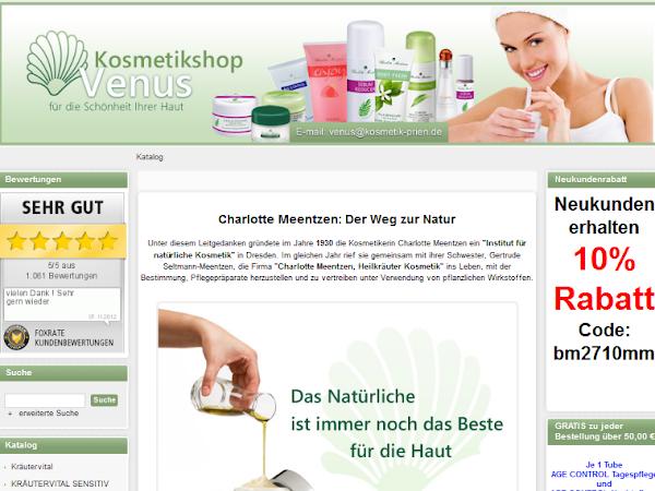 Kosmetikshop Venus