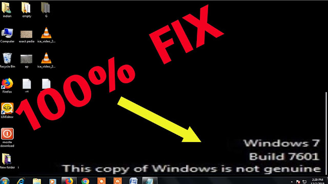 How to solve that this copy is not genuine in windows 7/8/10  | 7601 error |