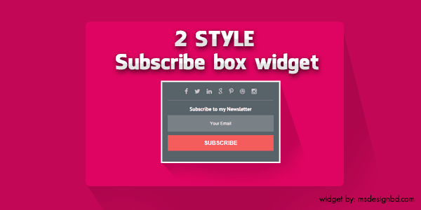 blogger subscribe widget 2 style free