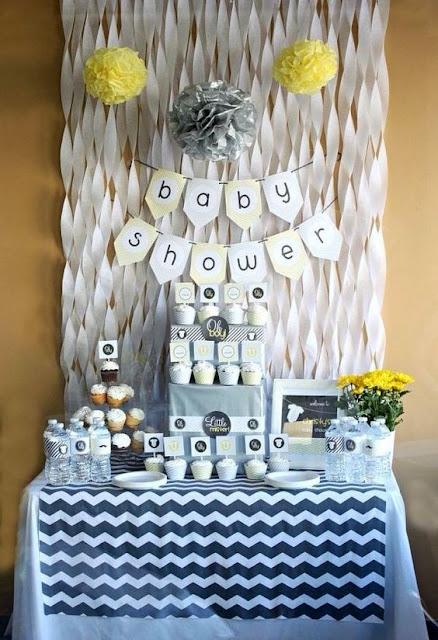 Decoração no estilo Clean para Chá de Bebê Menino - Dicas Grupo Ágata