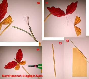 Cara Membuat Hiasan Dinding Kupu Kertas