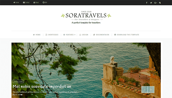 Sora Travel Blogger Template