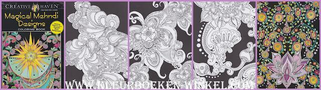 kleurboek magical mehndi designs