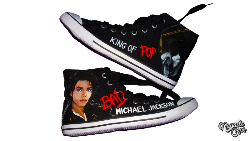 Zapatillas Michael Jackson BAD ~ Nayade Caps | Zapatillas y Gorras ...
