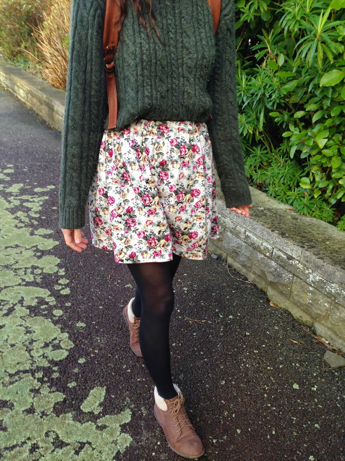 Easy Floral Gathered Skirt