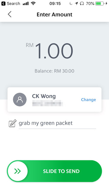 GrabPay - scan money to friends