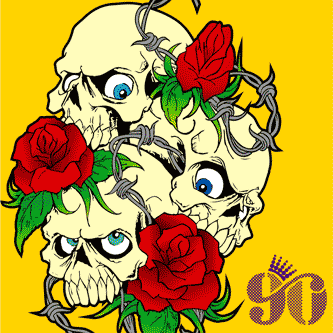 Descarga vector de Calaveras y Rosas Tatto