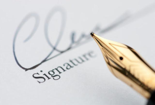Membaca karakter seseorang hanya melalui tanda tangan saja kita sudah bisa mengerti dan menebak