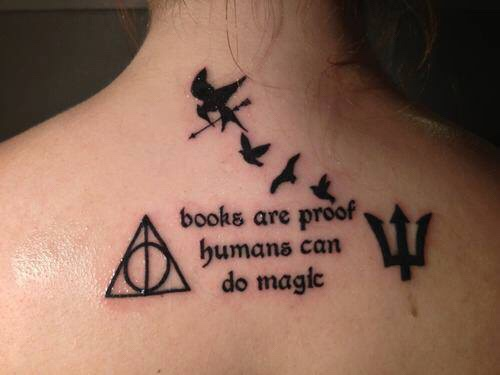 Harry Potter Book Tattoos