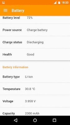 Informações sobre a bateria