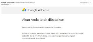 notif akun google payment dibatalkan