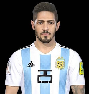 PES 2018 Faces Manuel Lanzini by Messi Pradeep