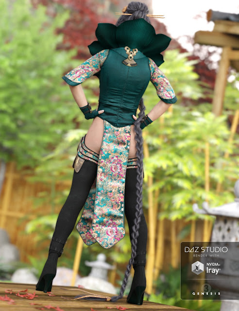 Lotus Maiden Outfit for Genesis 3 Female