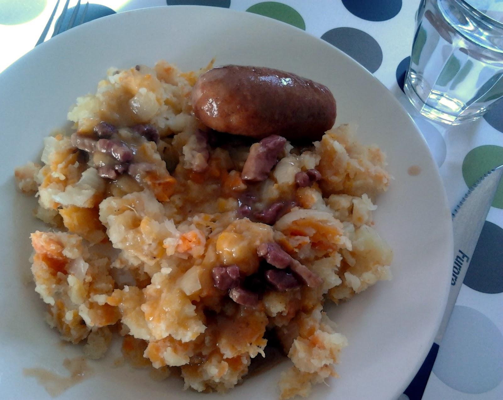 Hutspot met wortel, ui en pastinaak