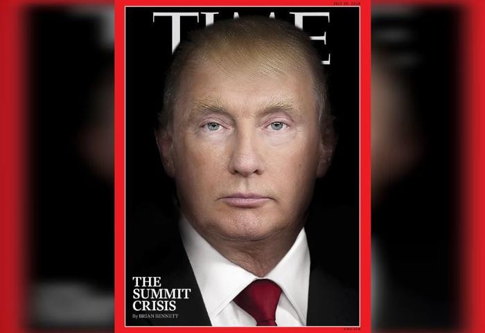 Time fusiona a Trump y Putin en nueva portada