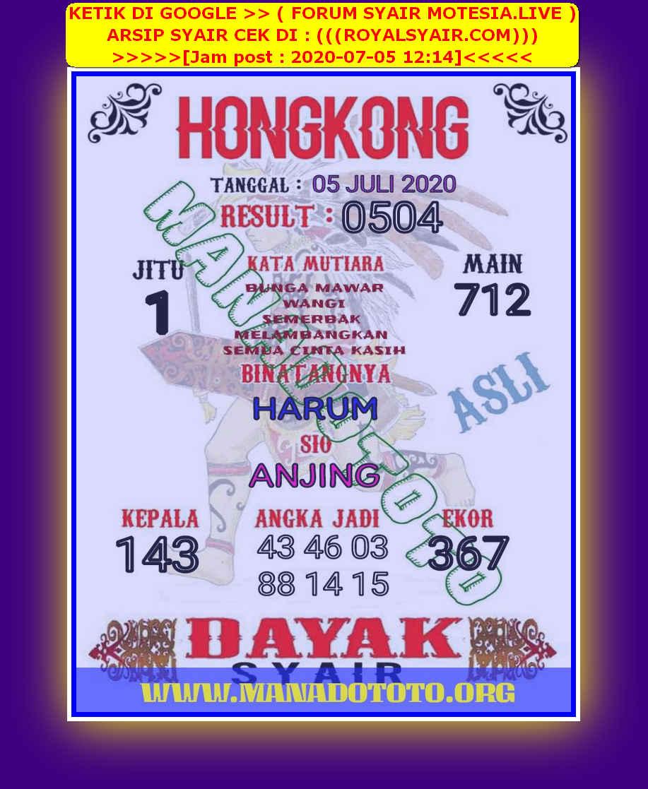 Kode syair Hongkong Minggu 5 Juli 2020 89