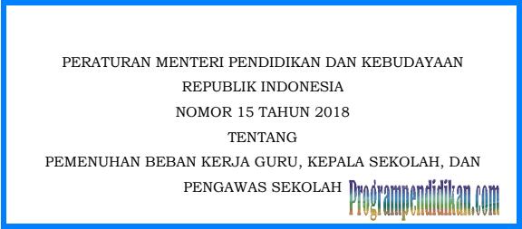 permendikbud nomor 15 Tahun 2018