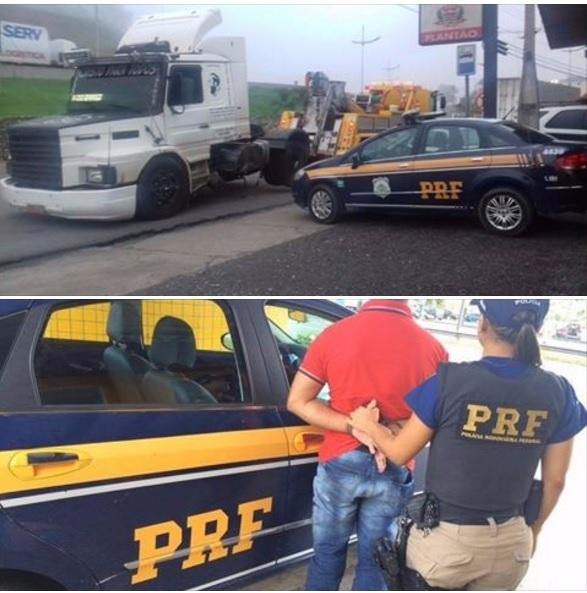 PRF captura foragido da justiça e detém motorista alcoolizado