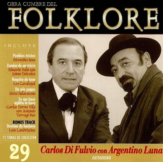 obras cumbres del folklore volumen 29 tapa