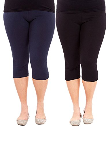 0bbdfe7f1099d1 Womens bootleg sleek-fit yoga pants{XXL,Black} · Yogareflex Womens Plus  Size Active Yoga Running Workout Legging ...