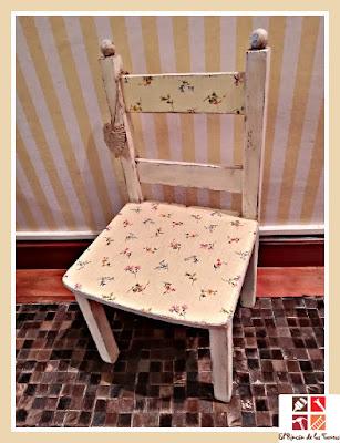 silla con decoupage