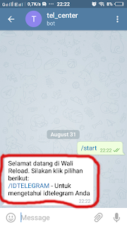 Cara Transaksi Pulsa Lewat Telegram 3