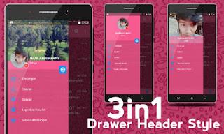 BBM Mod IMessenger Cute Pink v3.0.1.25 Apk Terbaru