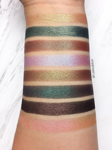 Makeup Geek duochrome eyeshadows, pictures and swatches: Karma, Typhoon, Havoc, Blacklight, Ritzy, Secret garden, Steampunk, Mai tai, futilitiesmore, futilitiesandmore, futilities and more