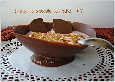 como hacer cuencos de chocolate con globos
