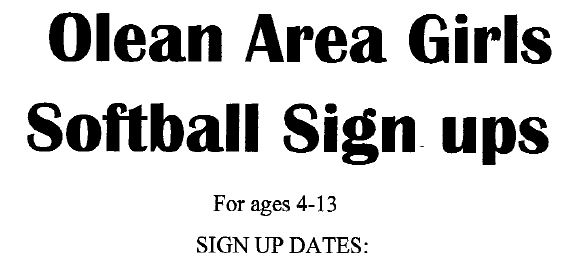 Wellsville Regional News (dot) com: Olean Area Girls