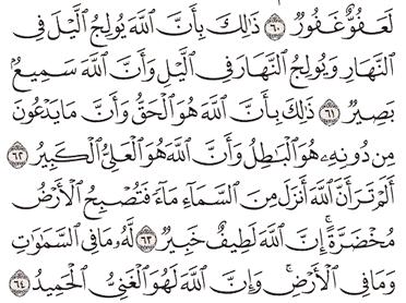 Tafsir Surat Al-Hajj Ayat 61, 62, 63, 64, 65