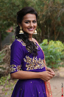 Actress Shraddha Srinath in Purple Chania Choli Cute Pics ~  Exclusive 50.jpg
