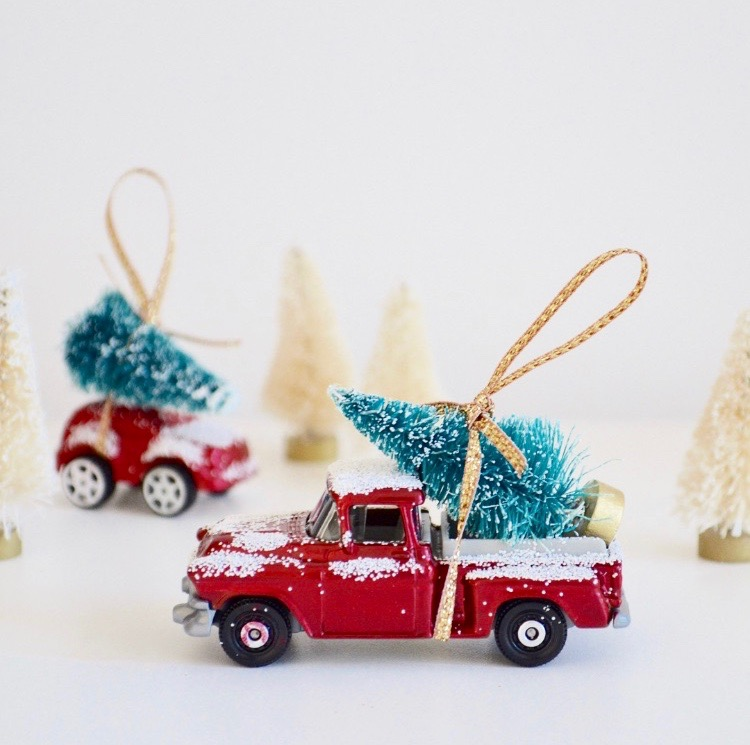 Christmas Car Decorations.Diy Christmas Car Tree Decorations The Things She Makes