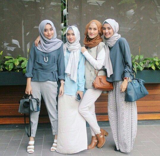 60 Model Baju Muslim Untuk Wanita Terpopuler 2018 Model Baju Muslim Terbaru 2018