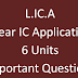 LICA (Linear IC Applications) Unit wise Important Questions